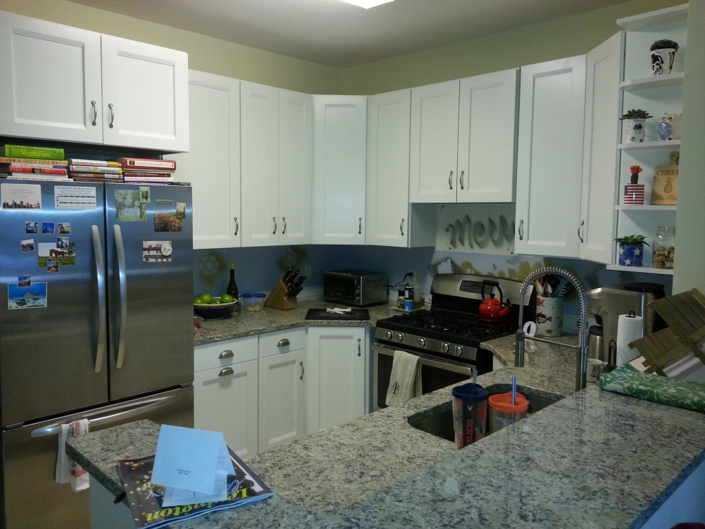 Cabinets: Home Depot, stainless steal appliances from Jeffers McGill, granite from Micalline